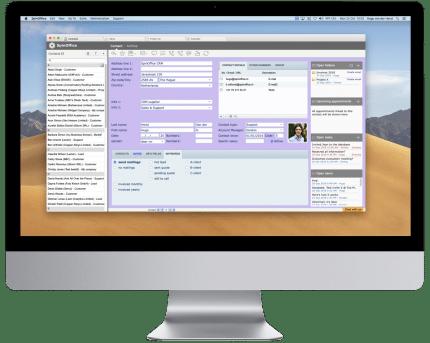 SpinOffice CRM op iMac