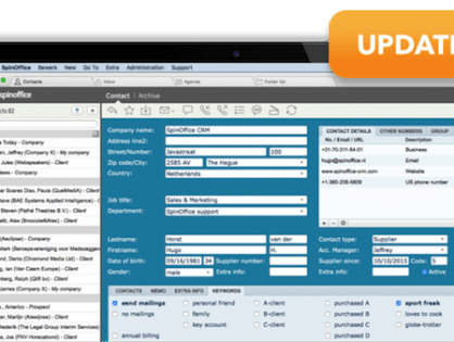 Software Update – What's new in SpinOffice?