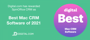 SpinOffice CRM named Best Mac CRM Software of 2021 by Digital.com